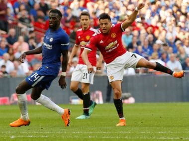 Manchester United's Alexis Sanchez in action during the FA Cup final. Reuters