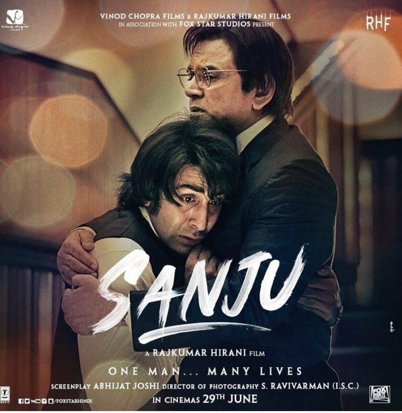 Ranbir Kapoor and Paresh Rawal in a poster of Sanju. Twitter