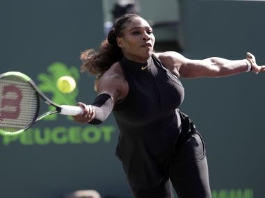File photo of Serena Williams in action at the Miami Open earlier this year. AP
