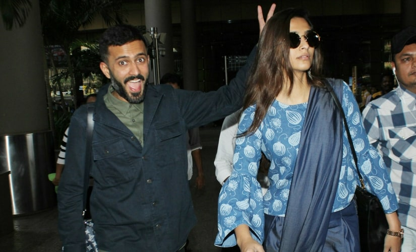 Sonam Kapoor and Anand Ahuja/Image from Twitter.