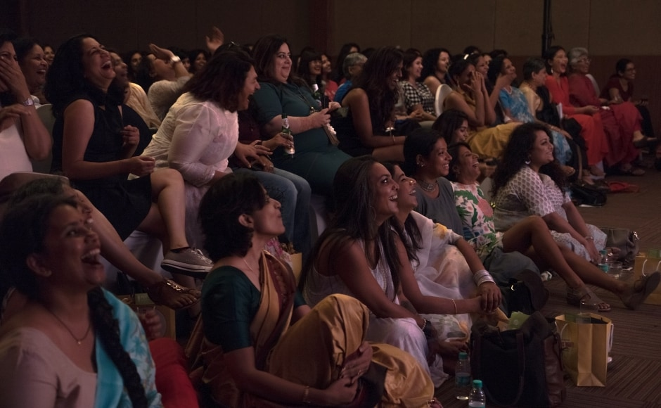 It was a ladies' night in the truest sense of the word: An all-women audience of 500 women in various Sridevi avatar costumes.