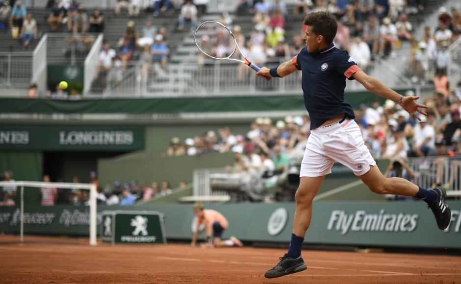 Seventh seed Dominic Thiem crushed Ilya Ivashka to cruise into the second round of the French Open on Day 2. AFP