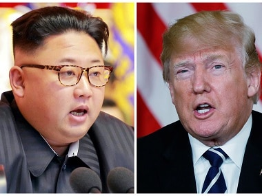 A combination photo of North Korean leader Kim Jong-un and US president Donald Trump. Reuters