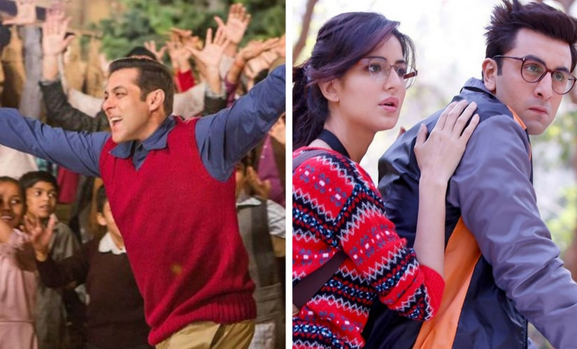 Salman Khan in Tubelight and a still from Jagga Jasoos/image from Twitter.