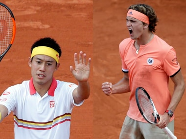French Open 2018: Alexander Zverev, Kei Nishikori and Grigor Dimitrov survive five-setters to reach 3rd round