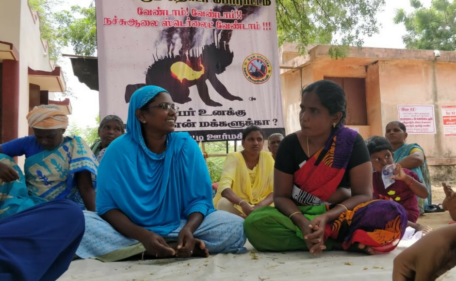 On Monday, Tamil Nadu chief minister K Palaniswamy announced that the government had ordered the permanent closure of the Sterlite plant at Thoothukudi (also known as Tuticorin). Sumathi, a protester (L), doesn't seem entirely convinced by the government order. Image courtesy: Greeshma Rai