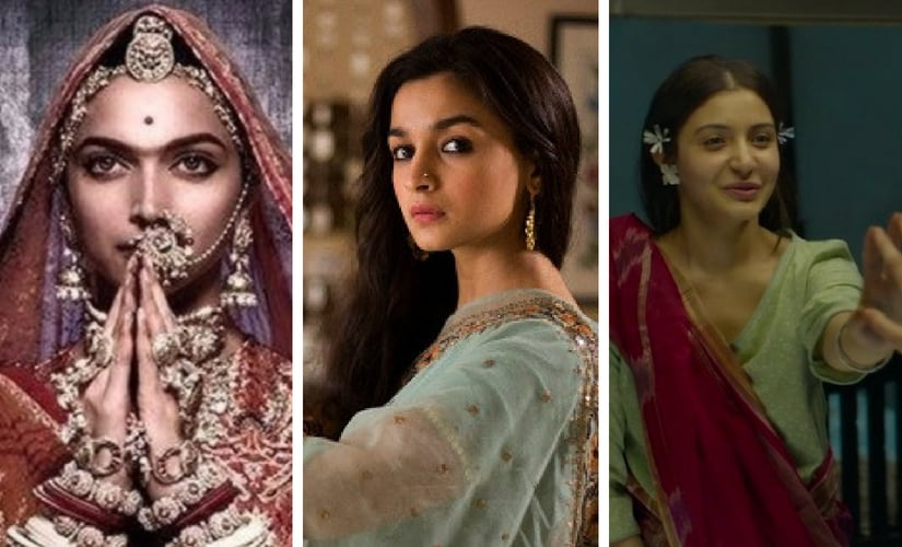 Stills from Padmaavat, Raazi and Pari. File images