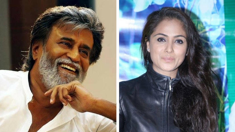 Rajinikanth and Simran. Facebook