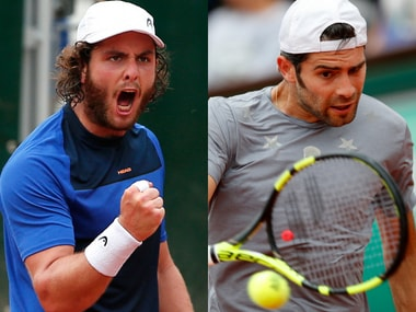 Marco Trungelliti and Simone Bolelli were two of the record eight lucky losers at the French Open. AP