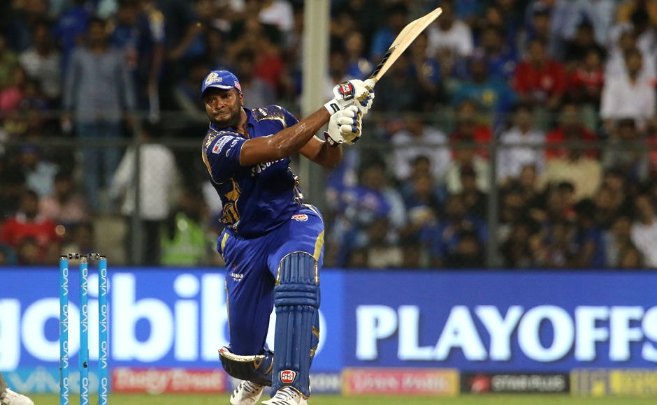 Mumbai Indians were 71 for 4 at one stage and it looked like they were going to fall on their faces flat but Kieron Pollard who was once again included in the playing XI lived up to his selection as he fired 23-ball 50 to take Mumbai Indians to a solid total of 186. Sportzpics