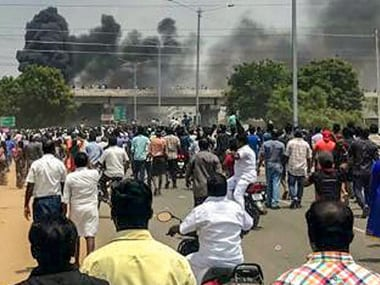 Violence in Tuticorin during Sterlite protest. PTI.