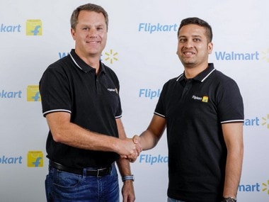 Walmart CEO Doug McMillan and Flipkart CEO Sachin Bansal.