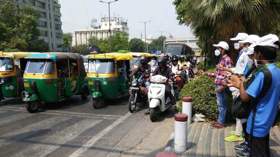 Air pollution data being collected in Delhi.