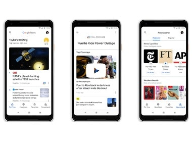 The new AI-based Google News service launched at IO18 is now available for iOS users