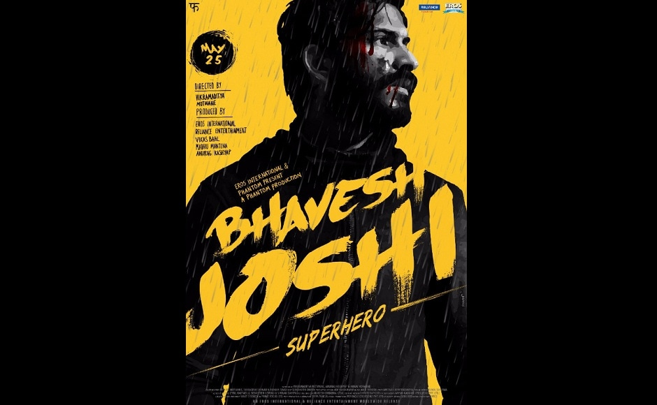 The official poster of Bhavesh Joshi Superhero.