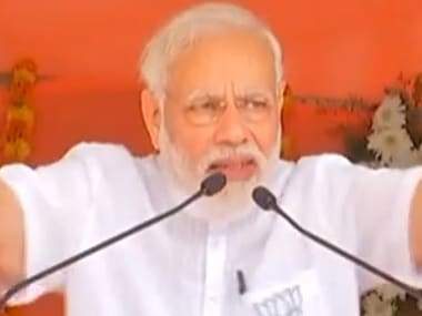 Prime Minister Narendra Modi addresses a rally Karnataka. Image courtesy: @BJP4India