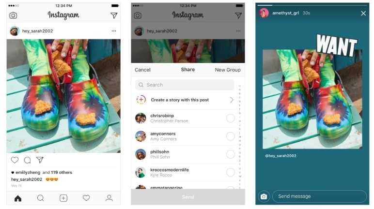 Instagram Now Lets Users Share Posts To Stories