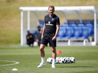 England's Harry Kane during training. Reuters