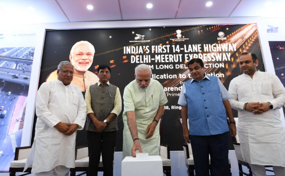 Modi then reached Baghpat in Uttar Pradesh to dedicate the EPE to the nation. The 135-kilometre expressway has been built at a cost of Rs 11,000 crore in 500 days. Twitter@NarendraModi