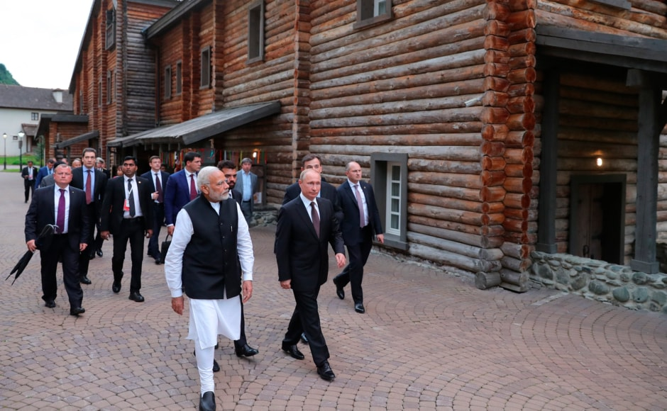 The two leaders also visited the landmark