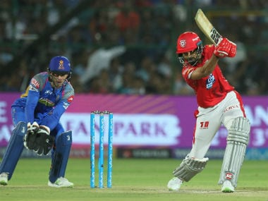 KXIP's KL Rahul in action against RR in IPL 2018 at Jaipur. Sportzpics