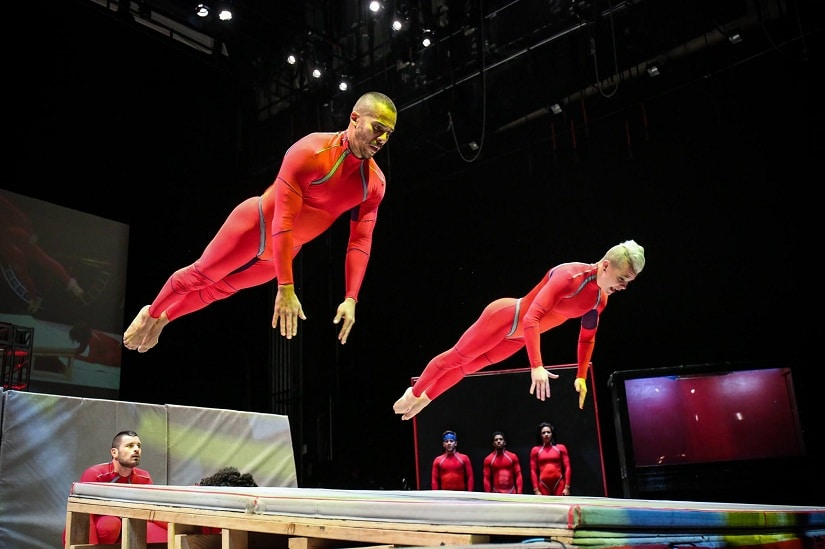 Dancers from Elizabeth Streb's troupe. Photo by Ralph Alswang via Facebook/@Streb