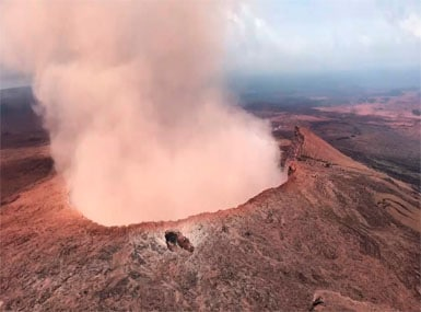 File image of a volcano erupting in Hawaii. AP
