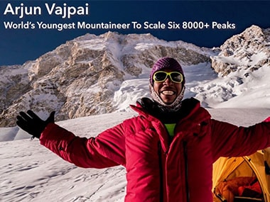 Meet Arjun Vajpai, the world's youngest mountaineer to scale six peaks over 8000 meters high