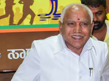 BJP Karnataka President BS Yediyurappa speaks after BJP emerged the leading party in Karnataka Assembly Election 2018 on Tuesday. PTI