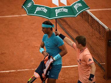 French Open 2018 Rain Cuts Short Rafael Nadal S Fightback Simona Halep Sets Up Semi Final Against Garbine Muguruza Sports News Firstpost