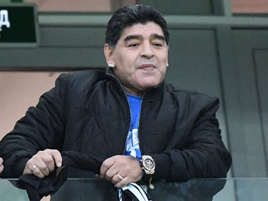 File image of Argentina's football legend Diego Maradona. AFP
