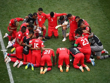 Panama's players are hoping to clinch a victory in their final tie of World Cup against Tunisia. AFP
