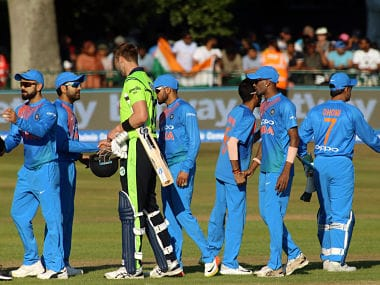 India displayed an all-round effort to beat Ireland by 76 runs. AFP
