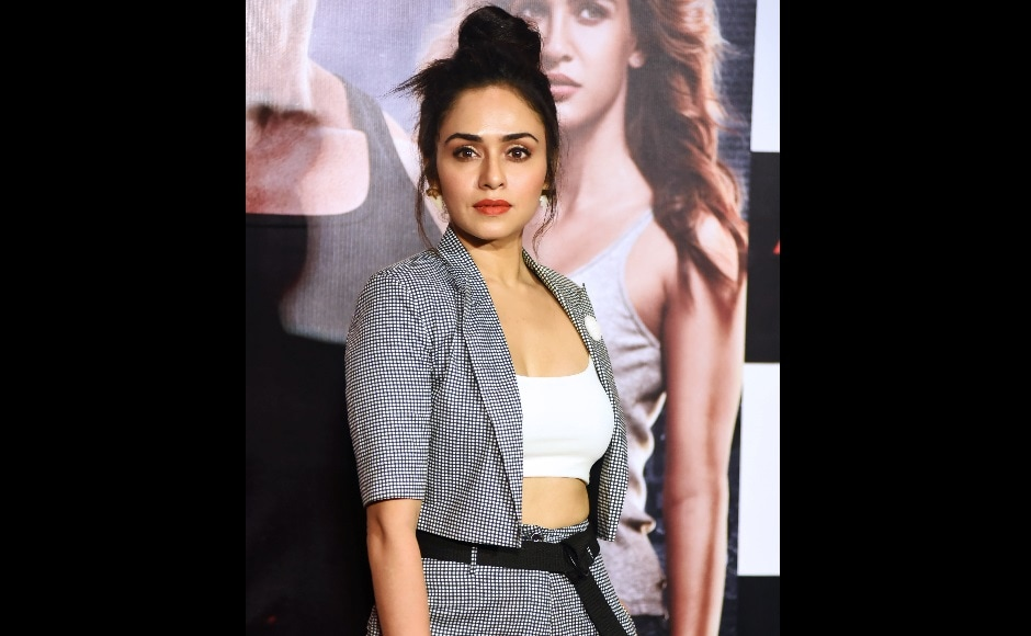 Amruta Khanvilkar poses for a picture during the trailer launch of upcoming action thriller Hindi film Satyameva Jayate. AFP