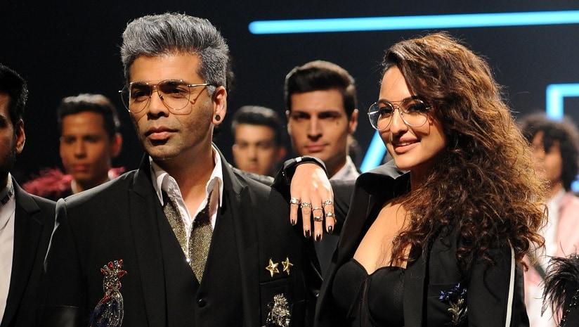 File image of Karan Johar and Sonakshi Sinha. AFP