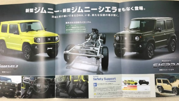 leaked images of Suzuki Jimmy.