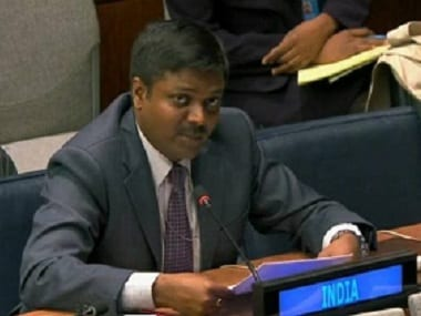 First Secretary Sandeep Kumar Bayyapu at the UNGA General Debate. Facebook@India At UN