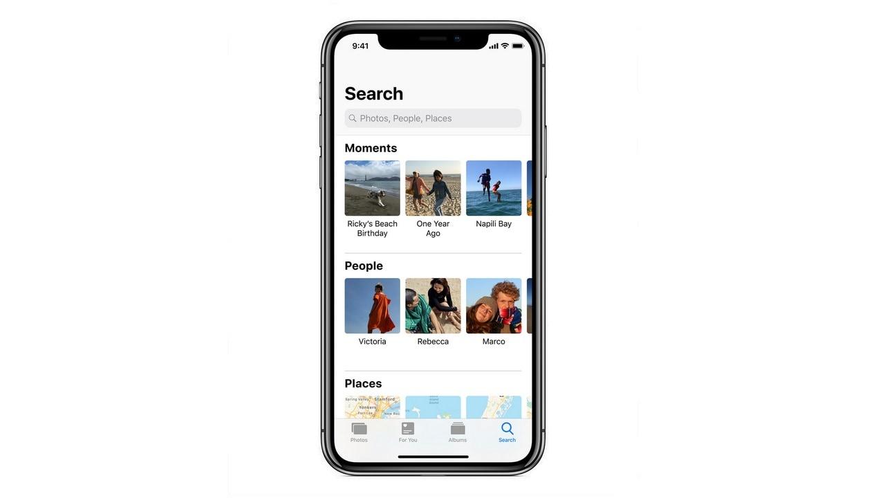iOS 12 Photos.