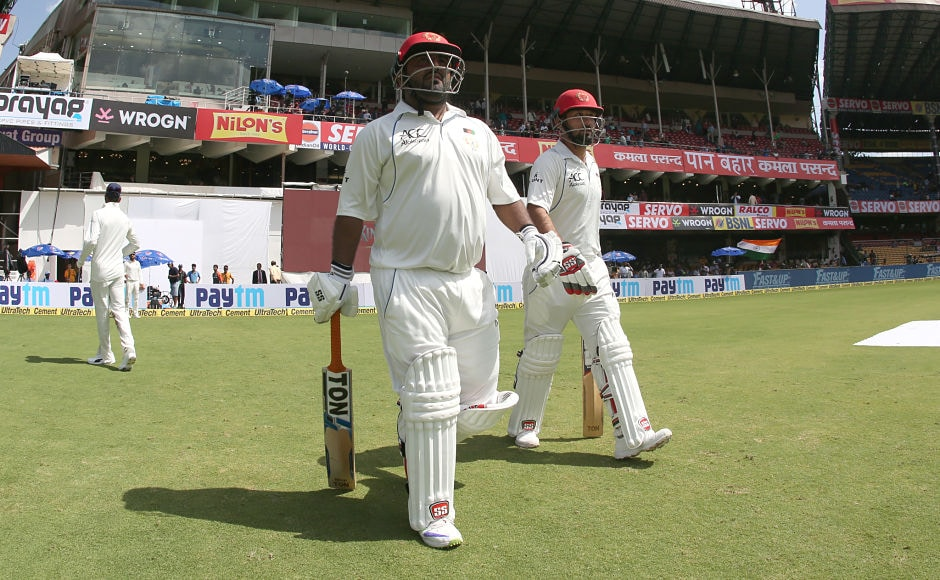 Unsurprisngly, India enforced the follow on after dismissing Afghanistan for 109 in the first innings. Mohammad Shahzad and Javed Ahmadi began second innings with a trail of 365 runs.Sportzpics