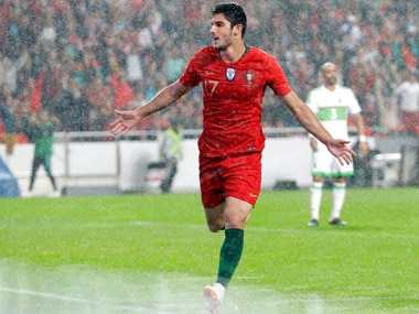 Goncalo Guedes scored two goals against Algeria. AP