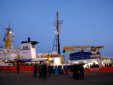 File Image of MV Aquarius, a search and rescue ship. Reuters