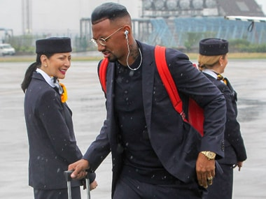 Germany and Bayern Munchen star Jerome Boateng arriving in Russia. AFP.