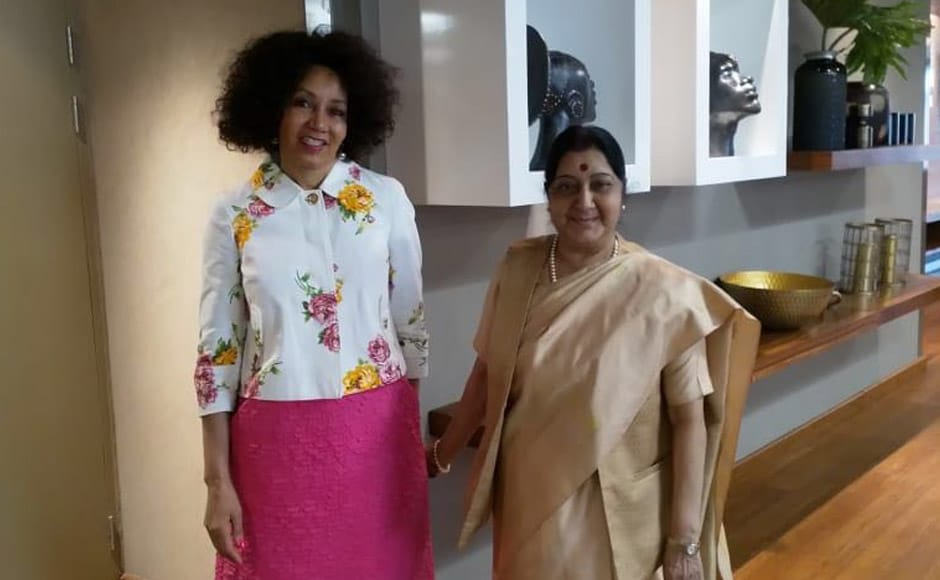 Over the course of the next four days, Swaraj will chair a meeting of foreign ministers of IBSA, an international tripartite grouping of India, Brazil and South Africa. She will also attend a number of events commemorating the 125th anniversary of Gandhi's expulsion from a train on the Pietermaritzburg railway station. Twitter@IndianDiplomacy