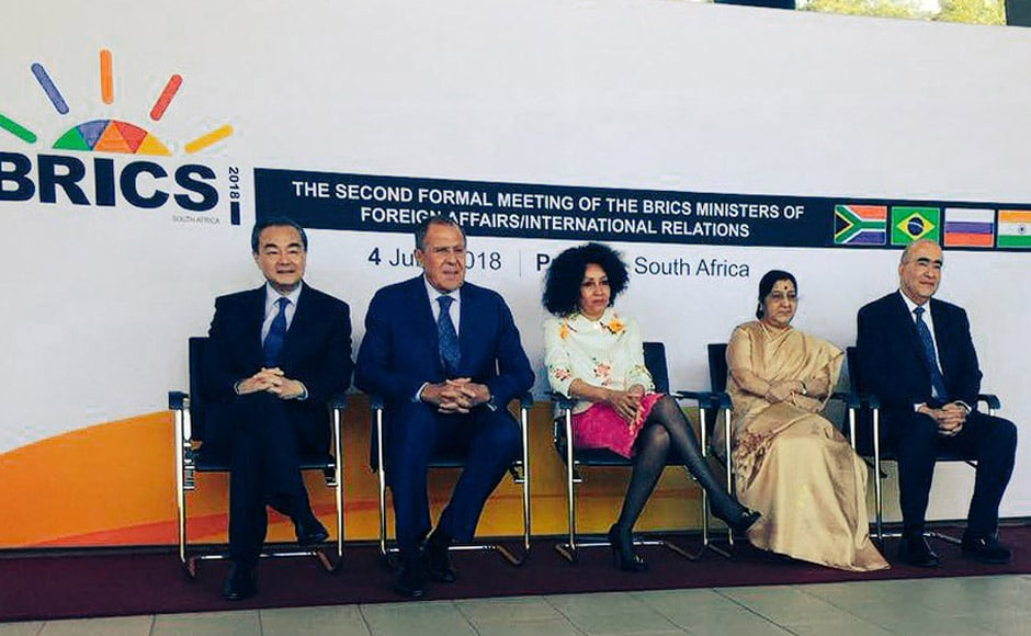 The meeting of the BRICS Ministers of Foreign Affairs was held in Pretoria, with the representatives from all five coutries in attendance. Swaraj expressed India's willingness to contribute towards co-operation between the nations that comprise BRICS and stressed on working together in a way that promotes development. Twitter@MEAIndia