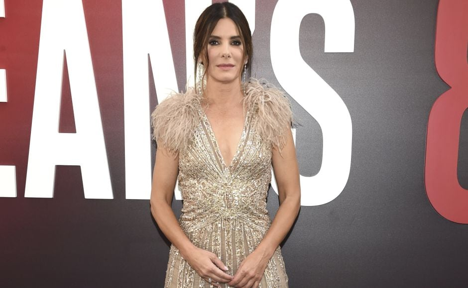 Sandra Bullock attends the world premiere of Ocean's 8 at Alice Tully Hall in New York. Photo by Evan Agostini/Invision/AP