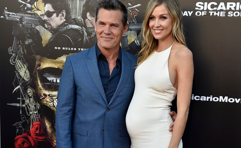 Josh Brolin, a cast member in Sicario: Day of the Soldado, poses with his wife Kathryn Boyd at the premiere of the film at the Westwood Regency Theatre, in Los Angeles. The Associated Press/Chris Pizzello