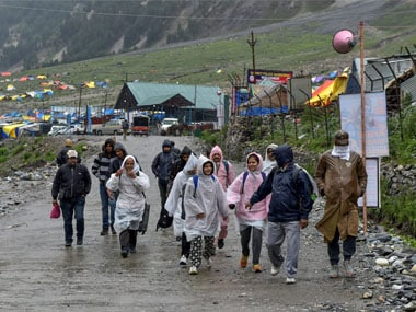The annual two-month Amarnath Yatra to commence on Thursday was halted dur to bad weather and heavy rainfall. PTI