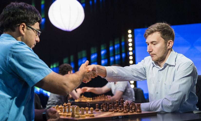 Anand's game against Karjakin had a big impact on the overall standings. Image credit: Lennart Ootes