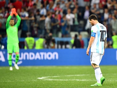 Argentina's qualification hopes hang by a thread after their loss against Croatia. AFP