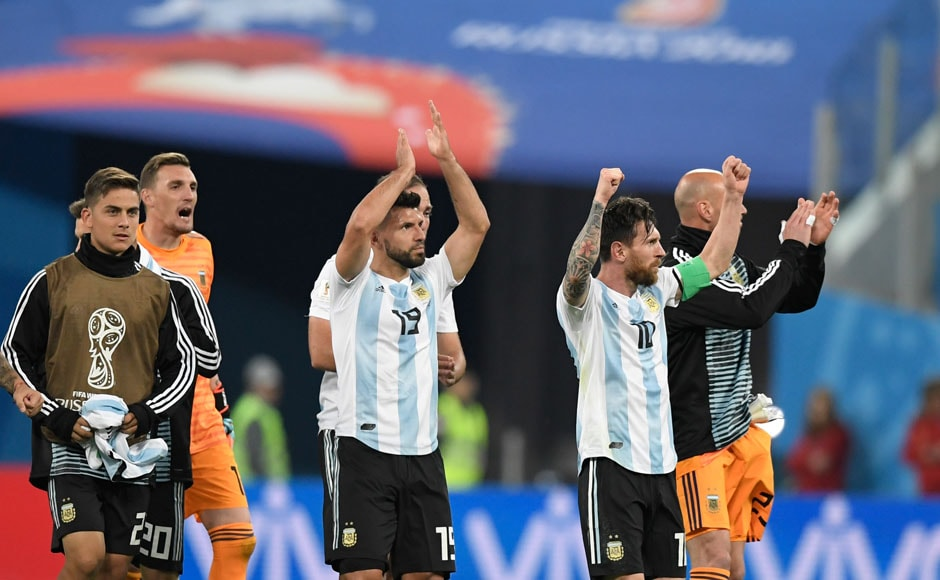 Argentina's qualification hopes were left hanging by a thread after being held to a draw against Iceland and losing their second match to Croatia. They needed to beat Nigeria and hope for Iceland to lose in order to go through. AFP